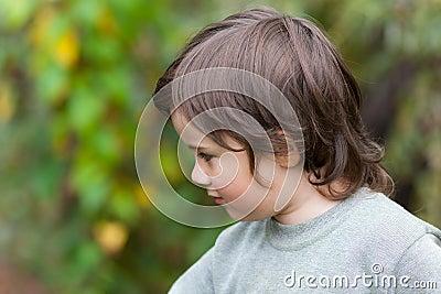 Little boy in a profile