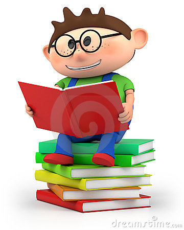 Free Little Boy Reading Royalty Free Stock Photography - 23835167