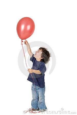 Free Little Boy Red Balloon Stock Images - 4657674