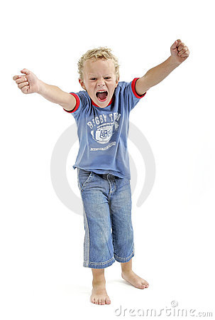 Free Little Boy Screaming Stock Photo - 257340