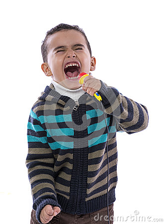 Free Little Boy Singing Loudly Royalty Free Stock Images - 28896699