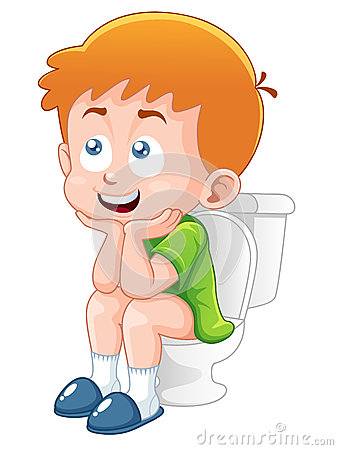 Boy Potty Clipart Little-boy-sitting-toilet- ...