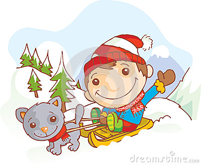 Little boy on a sledge hammer
