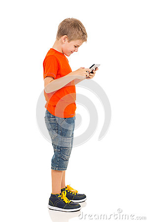 Free Little Boy Tablet Pc Royalty Free Stock Photography - 40215227
