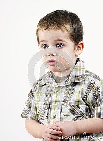 Little boy in trouble