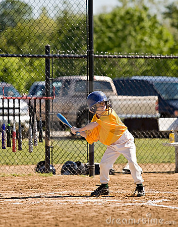 Free Little Boy Up To Bat Stock Images - 5366024
