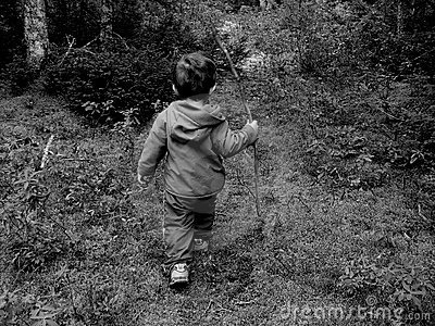 Little Boy in Woods