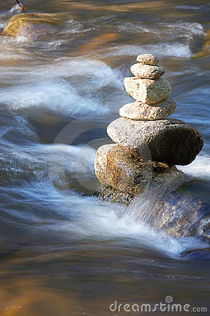 Free Little Brook With Many Stones Stock Photo - 2863670