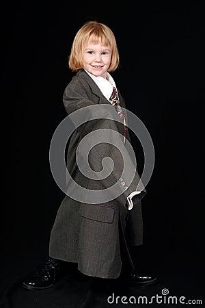 Little businesswoman