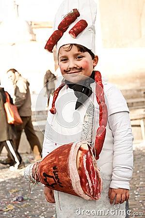 Little butcher Editorial Stock Photo