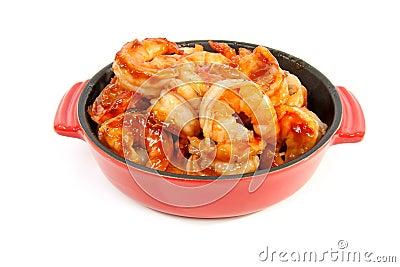 Little casserole with shrimp