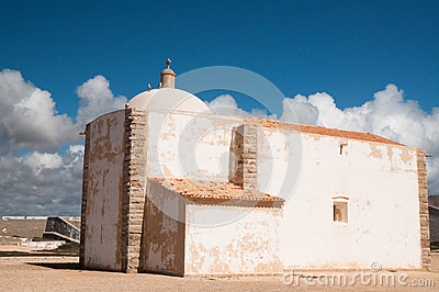 Little Chapel Of Fortaleza De Sagres In Portugal Royalty Free Stock Photography - Image: 28674737