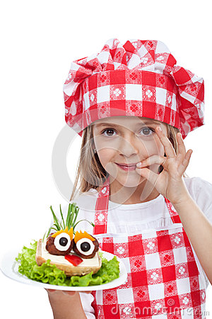 Little chef with creative food