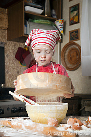 Little chef in the kitchen