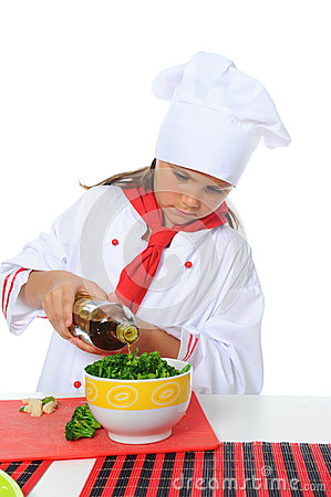 Little Chef in uniform.