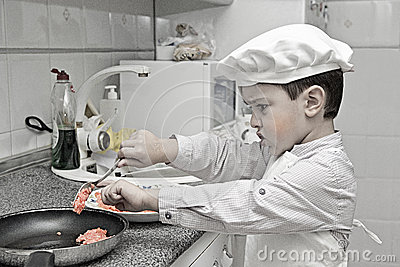 Little chef working