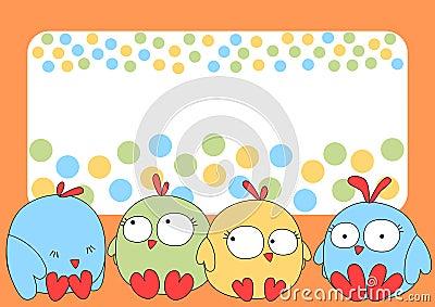 Little chicks greeting card