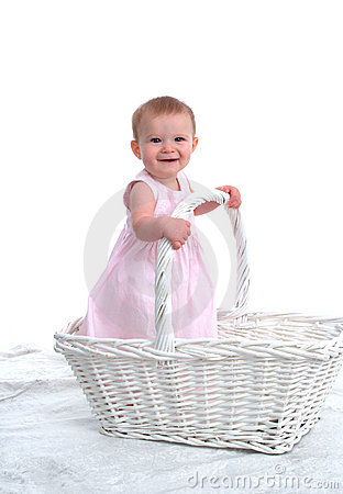 Little Child in a Big Basket