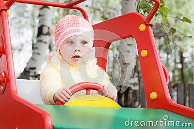 Little child on swing