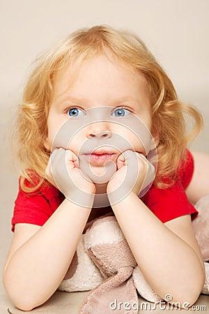 Little child thinking