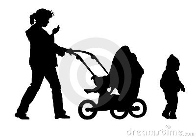 Little children and moms