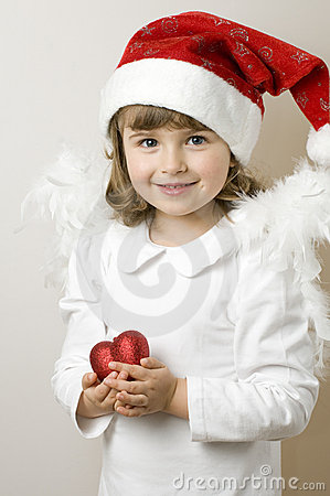 Free Little Christmas Angel Stock Photos - 7446993