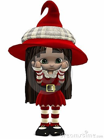 Little Christmas Elf-Toon Figure