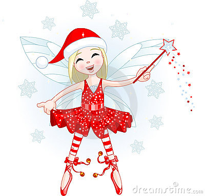 Free Little Christmas Fairy Stock Photo - 12009170