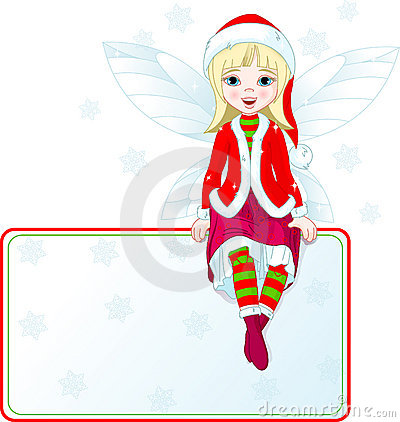 Little Christmas fairy place card