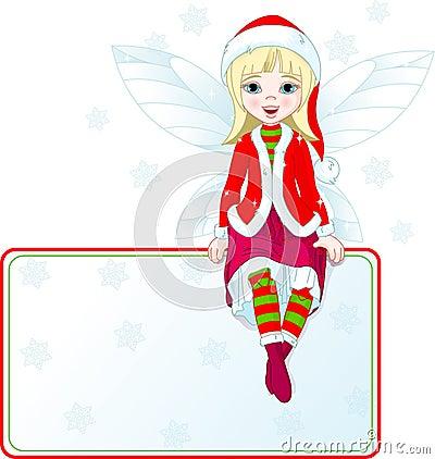 Little Christmas fairy place card