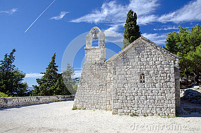 Little church on Mount Marjan in Split