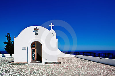 Little church in Rhodes ,Greece