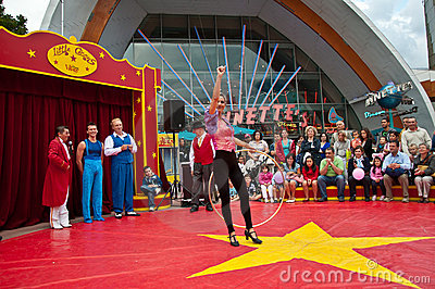Little circus entertainment in disney village out Editorial Stock Image