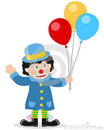 Little Clown with Balloons