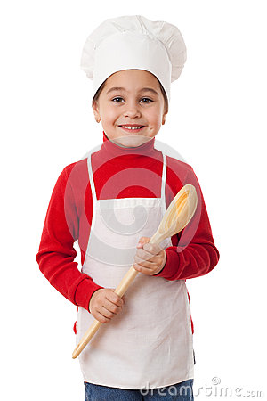 Little cook with ladle
