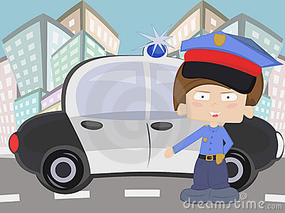 Little cop boy