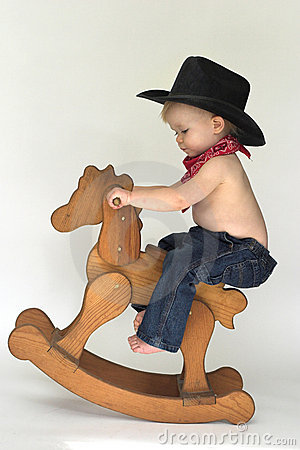Free Little Cowboy Royalty Free Stock Photo - 3757515