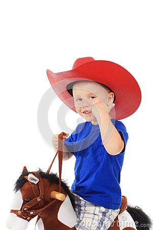 Little cowboy on a horse
