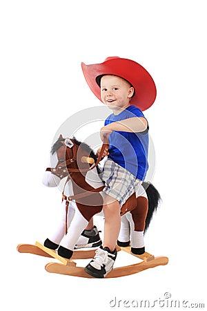 Little cowboy on a horse