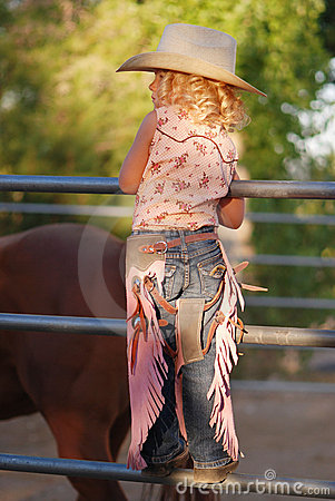 Free Little Cowgirl. Stock Photography - 5775182