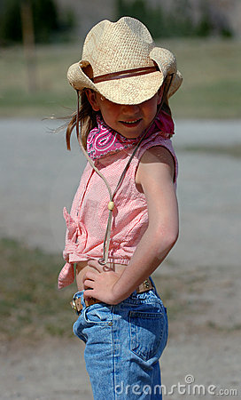 Little Cowgirl with Attitude