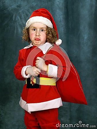 Little Curly Santa