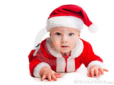 Little cute baby gnome in red