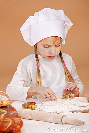 Little cute baker