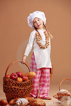 Little Cute Baker Stock Image - Image: 20461651