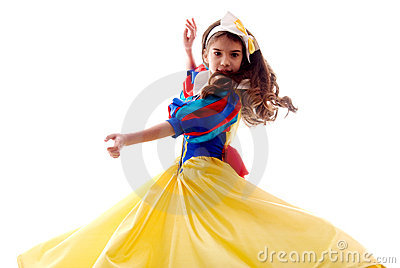 Little Cute Dancing Fairy Girl