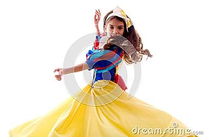 Little Cute Dancing Fairy Girl