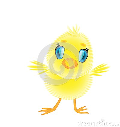A little cute downy cartoon chick