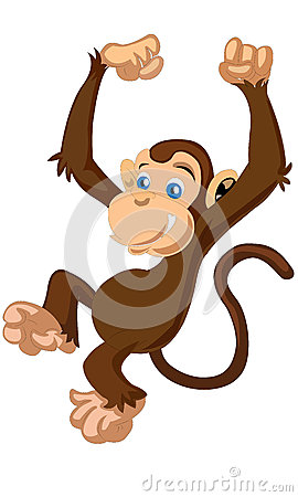 Free Little Cute Funny Cartoon Brown Monkey Vector Stock Photography - 72503872