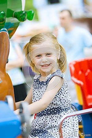 Little cute girl having fun
